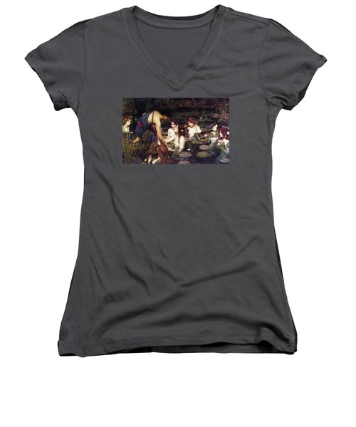 Hylas And The Nymphs Women's V-Neck