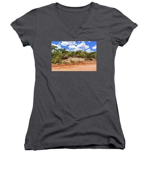 Landscape In Tanzania Women's V-Neck T-Shirt