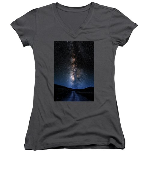 Milky Way Women's V-Neck (Athletic Fit)