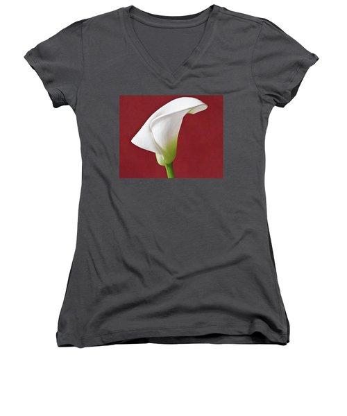 White Calla Women's V-Neck