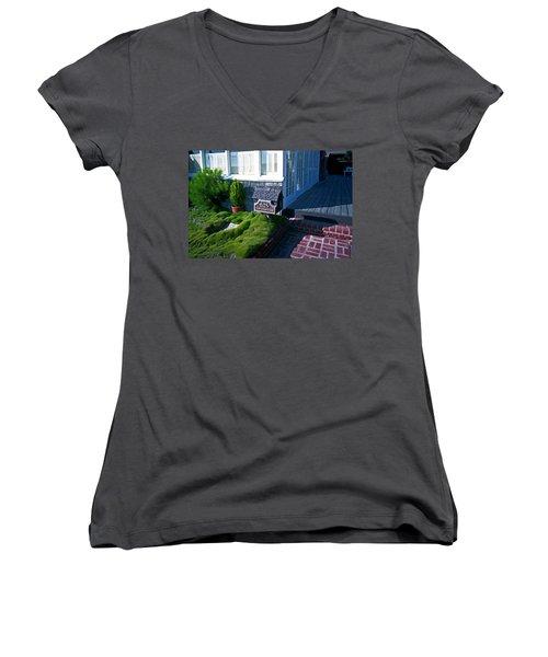 628 West Ocean Front Women's V-Neck T-Shirt