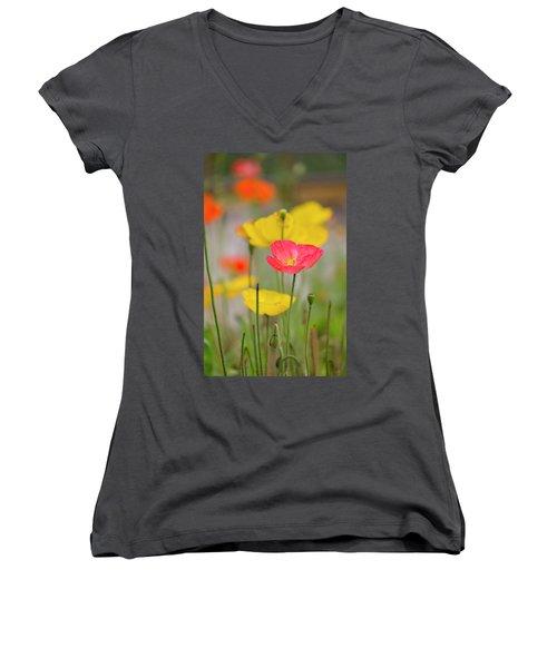 Flower Women's V-Neck T-Shirt