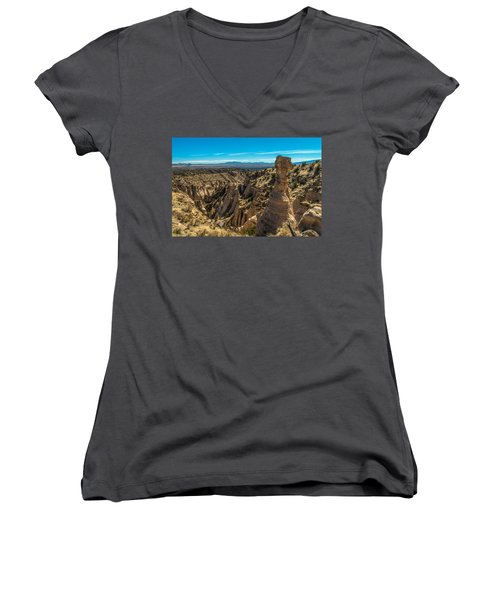 Kasha-katuwe Tent Rocks Women's V-Neck (Athletic Fit)
