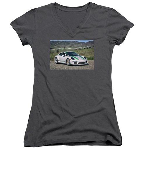 #porsche #911r #print Women's V-Neck