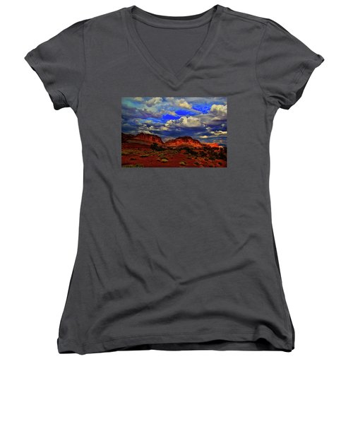 Capitol Reef National Park Women's V-Neck (Athletic Fit)
