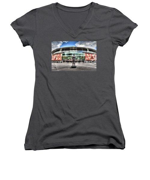 Arsenal Fc Emirates Stadium London Women's V-Neck (Athletic Fit)
