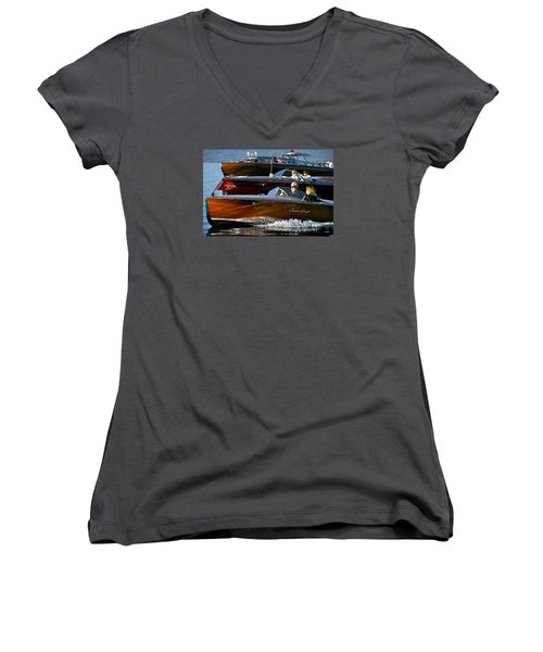 Classic Wooden Runabouts Women's V-Neck