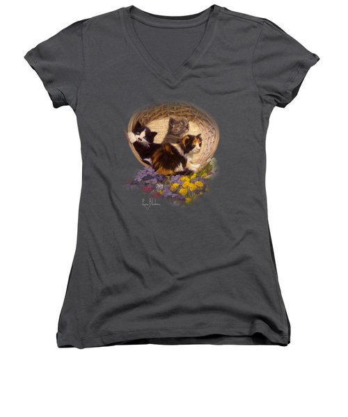 A Basket Of Cuteness Women's V-Neck (Athletic Fit)
