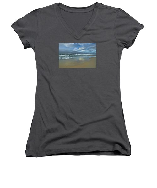 Women's V-Neck T-Shirt (Junior Cut) featuring the photograph A Beautiful Day by Renee Hardison