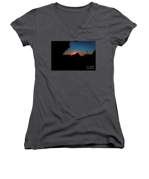 A Beautiful Night... Women's V-Neck T-Shirt (Junior Cut)
