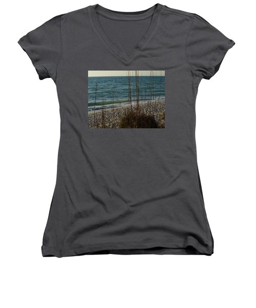 Women's V-Neck T-Shirt (Junior Cut) featuring the photograph A Beautiful Planet by Robert Margetts