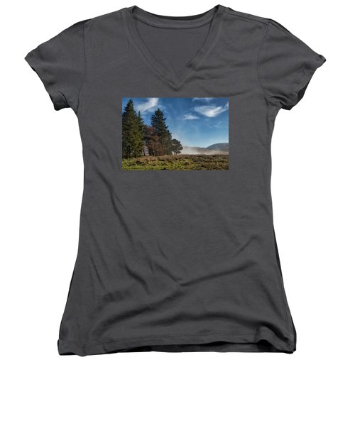Women's V-Neck T-Shirt featuring the photograph A Beautiful Scottish Morning by Jeremy Lavender Photography