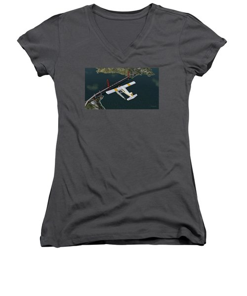 A Beaver Over The Bridge Women's V-Neck (Athletic Fit)