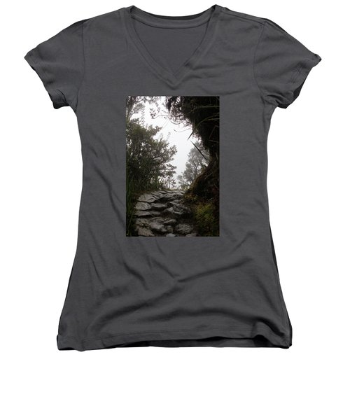 A Bend In The Path Women's V-Neck (Athletic Fit)