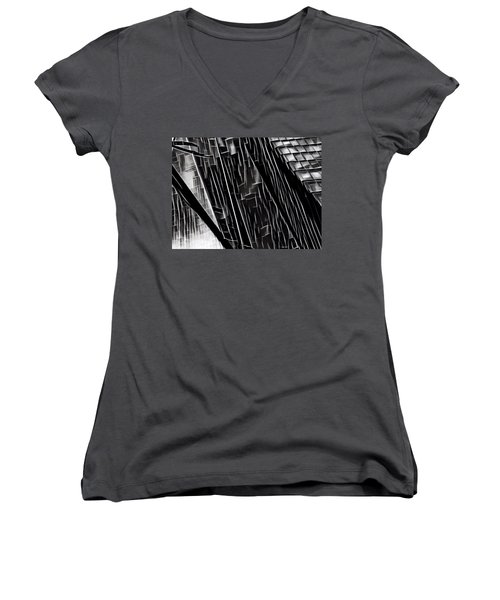 A Black-and-white Cookie Women's V-Neck (Athletic Fit)