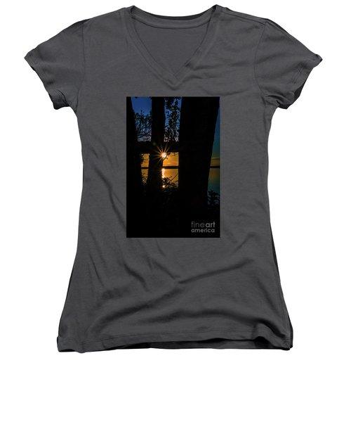 A Blissful Evening Women's V-Neck T-Shirt (Junior Cut)