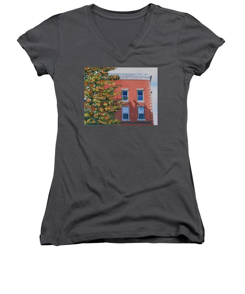 A Brick In Time Women's V-Neck