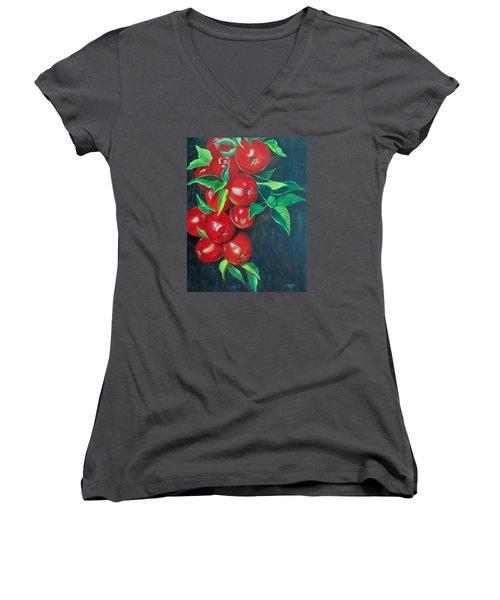 A Bumper Crop Women's V-Neck T-Shirt