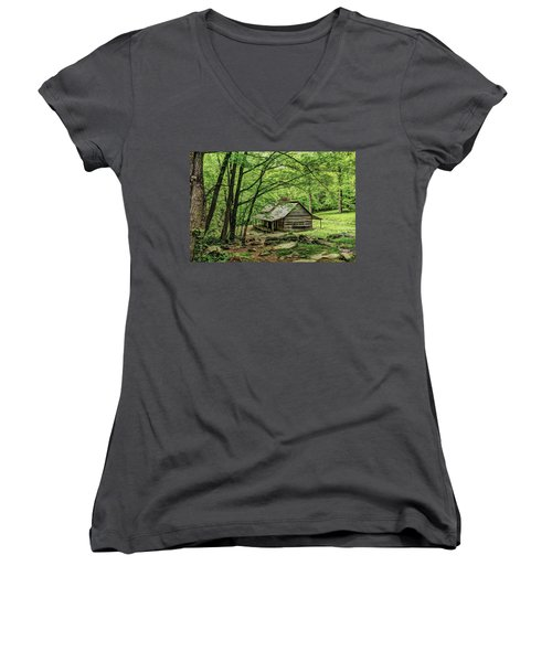A Cabin In The Woods Women's V-Neck