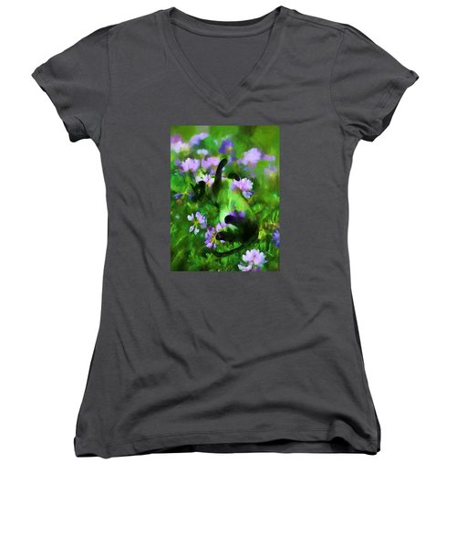 A Cat's Dream Women's V-Neck (Athletic Fit)