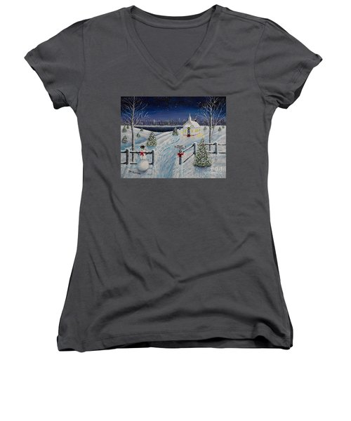A Christmas Eve Women's V-Neck (Athletic Fit)