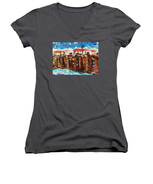 A City Like Baltimore Women's V-Neck T-Shirt