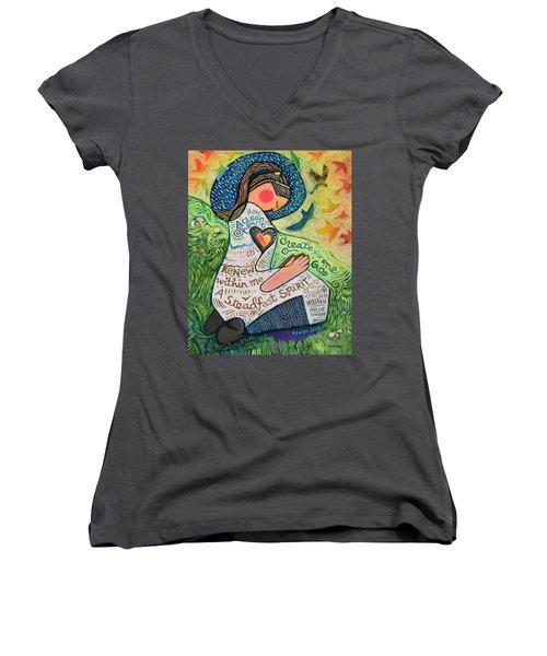 A Clean Heart Women's V-Neck T-Shirt