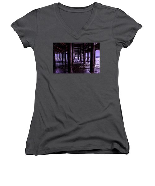 A Cloudy Day Under The Pier Women's V-Neck (Athletic Fit)