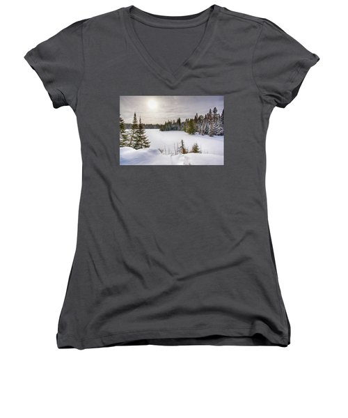 A Cold Algonquin Winters Days  Women's V-Neck