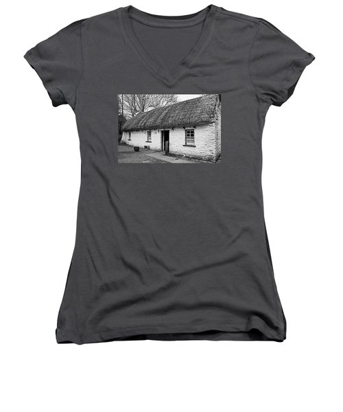 A Country Cottage Women's V-Neck T-Shirt (Junior Cut) by Martina Fagan