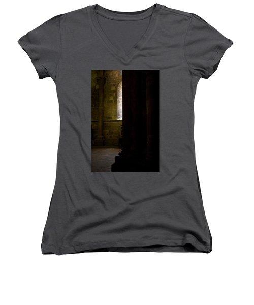 Women's V-Neck T-Shirt (Junior Cut) featuring the photograph Slice Of Light by Lorraine Devon Wilke