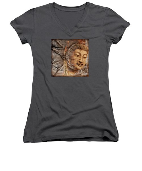 A Cry Is Heard Women's V-Neck T-Shirt (Junior Cut) by Christopher Beikmann