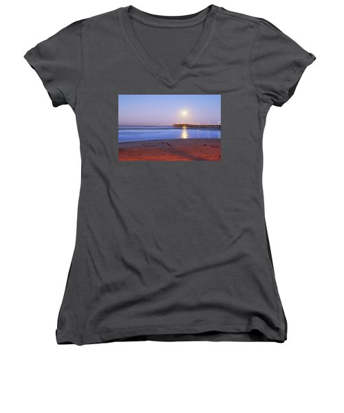A Crystal Moon Women's V-Neck T-Shirt (Junior Cut)