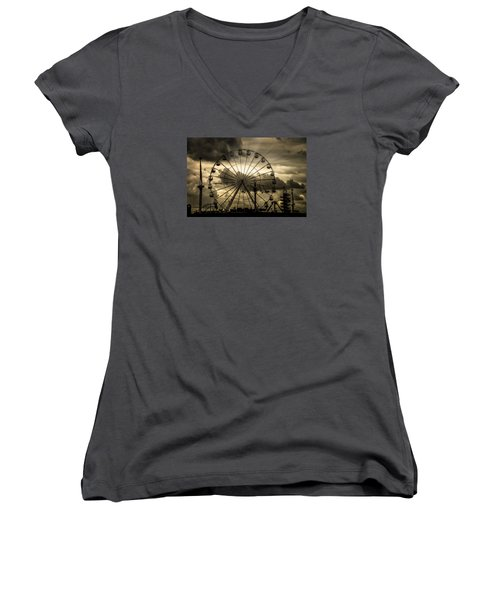 Women's V-Neck T-Shirt featuring the photograph A Day At The Fair by Chris Lord