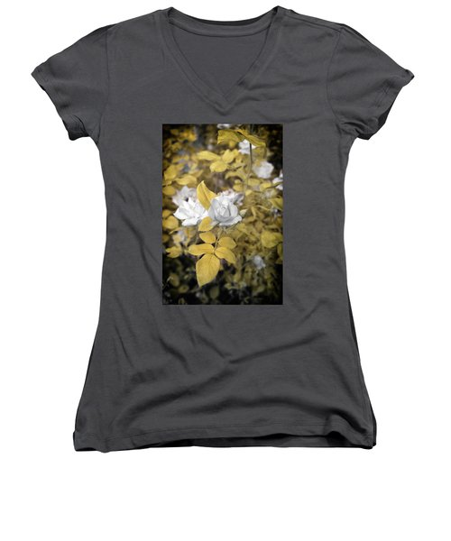 A Day In The Garden Women's V-Neck (Athletic Fit)