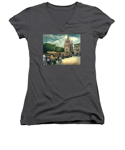 A Day With The Family Women's V-Neck (Athletic Fit)