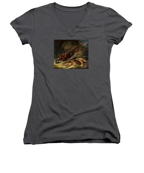 A Dead Pheasant Women's V-Neck T-Shirt