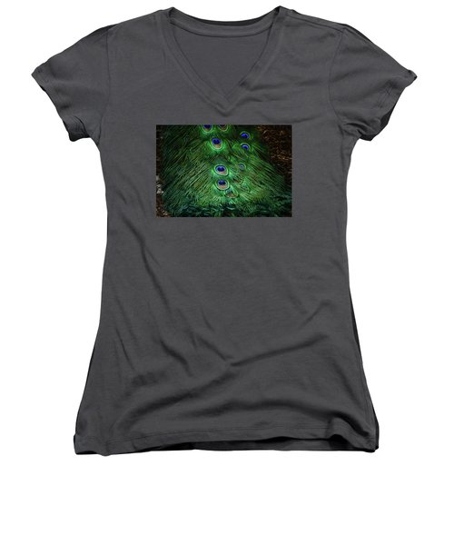 A Different Point Of View Women's V-Neck T-Shirt (Junior Cut) by Elaine Malott