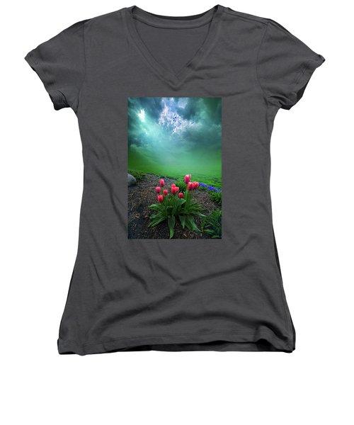 A Dream For You Women's V-Neck T-Shirt (Junior Cut)
