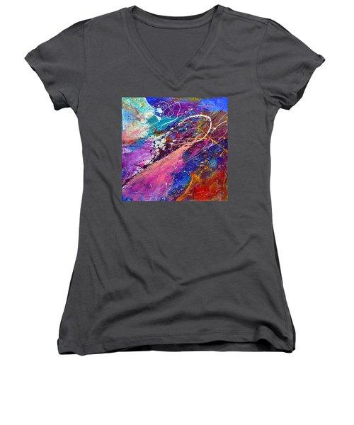 A Faded Memory Women's V-Neck T-Shirt (Junior Cut) by Tracy Bonin