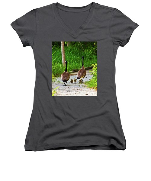 A Family Stroll Women's V-Neck (Athletic Fit)