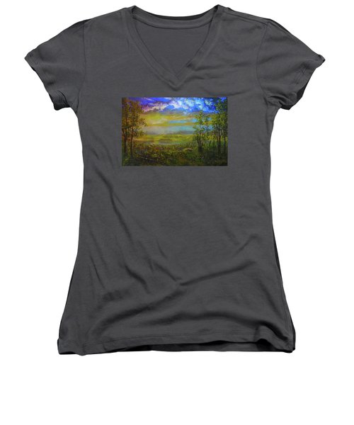 A Far Place  Women's V-Neck (Athletic Fit)