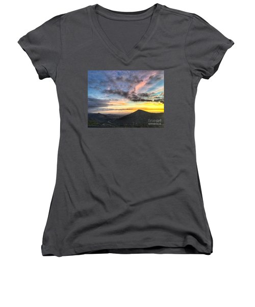 A Feeling Of The Presence Of God - Digital Painting Women's V-Neck T-Shirt