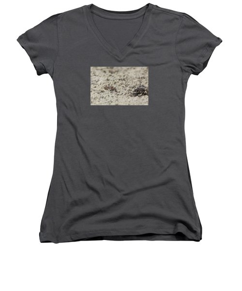 A Fiddler Crab In The Sand Women's V-Neck