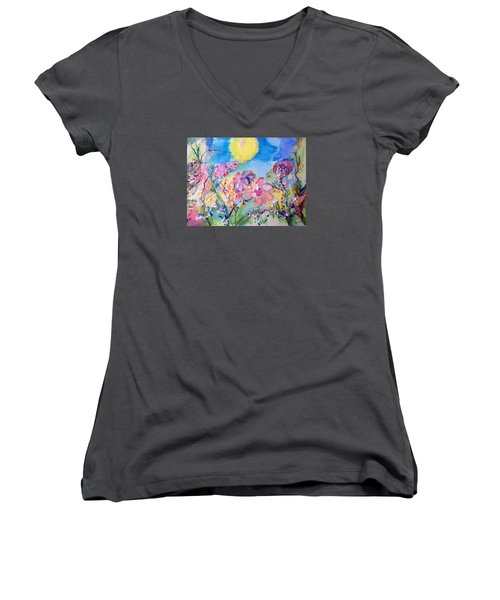 A Fine Summers Morning  Women's V-Neck (Athletic Fit)