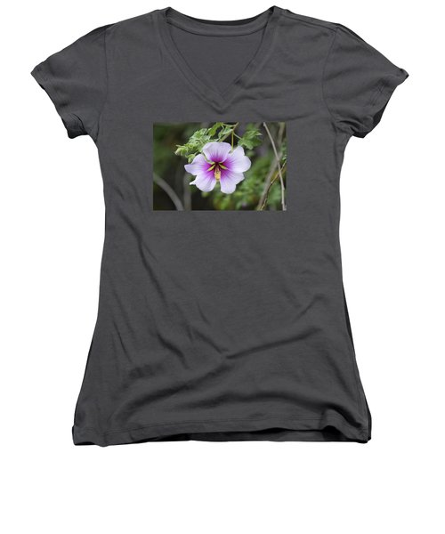 A Flower Women's V-Neck T-Shirt