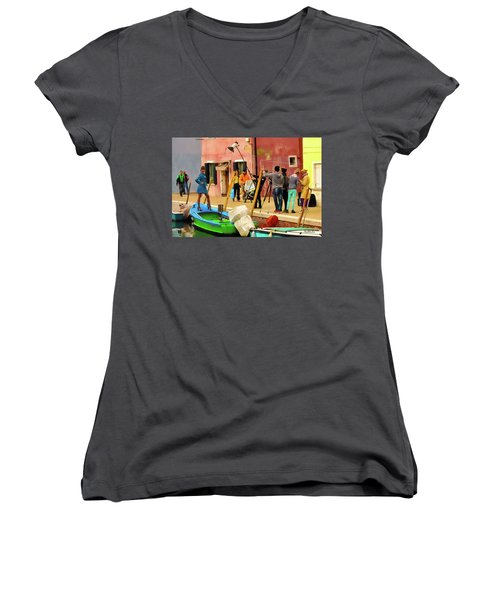 A Glamour Shoot In Burano Women's V-Neck (Athletic Fit)