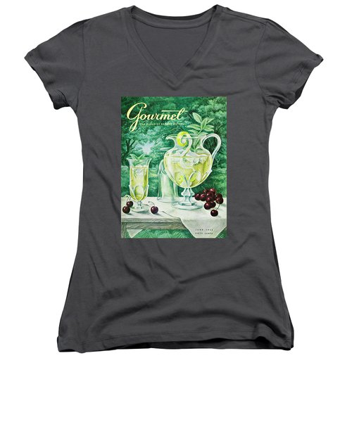 A Gourmet Cover Of Glassware Women's V-Neck