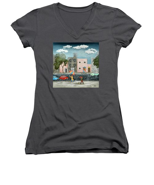 A Great Rainy Day Women's V-Neck (Athletic Fit)