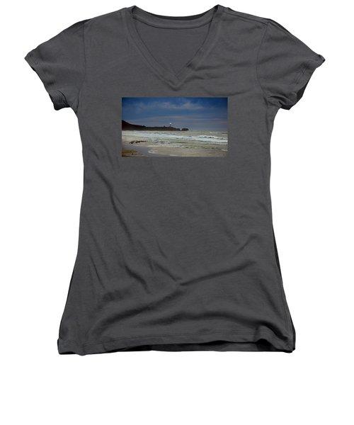 A Guiding Light Women's V-Neck T-Shirt (Junior Cut) by Jim Walls PhotoArtist